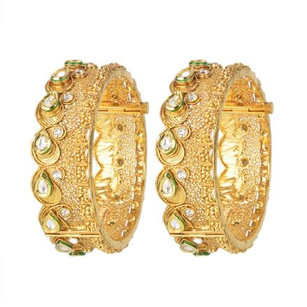 11149 Antique Openable Bangles with gold plating