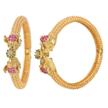 11163 Antique Openable Bangles with gold plating