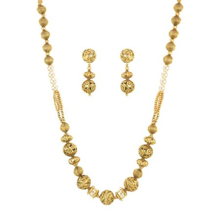 11171 Antique Mala Necklace with gold plating