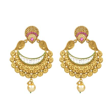 11177 Antique Chand Earring with gold plating