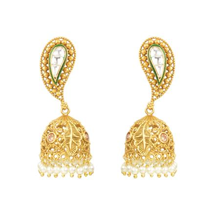 11180 Antique Jhumki with gold plating