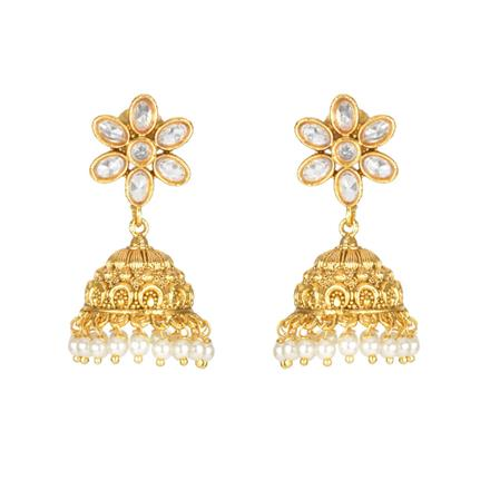 11185 Antique Jhumki with gold plating
