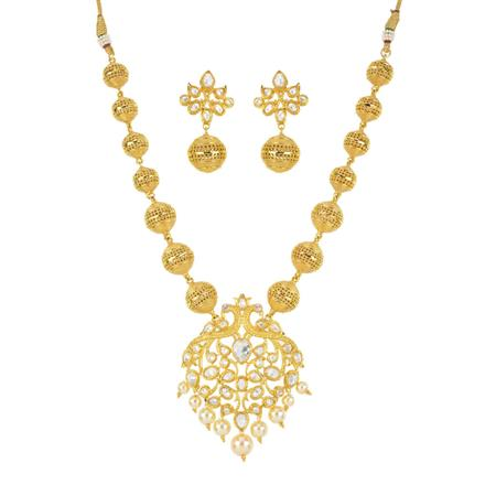 11190 Antique Mala Pendant Set with gold plating