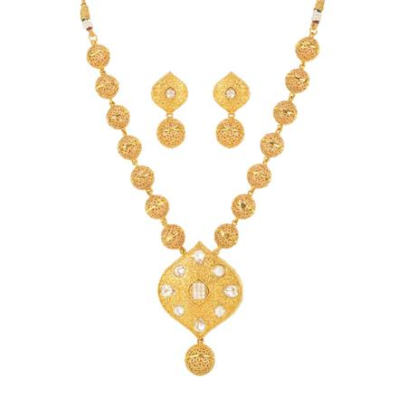 11191 Antique Mala Pendant Set with gold plating