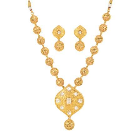 11191 Antique Mala Pendant Set with gold plating