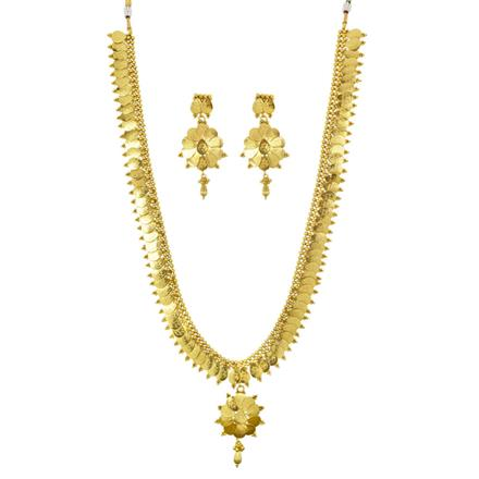 11193 Antique Temple Necklace with gold plating