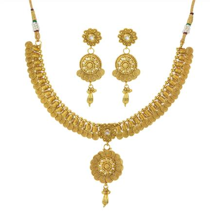 11196 Antique Plain Gold Necklace