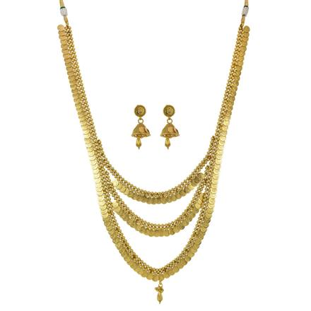11197 Antique Temple Necklace with gold plating