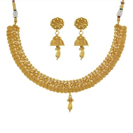 11198 Antique Plain Gold Necklace
