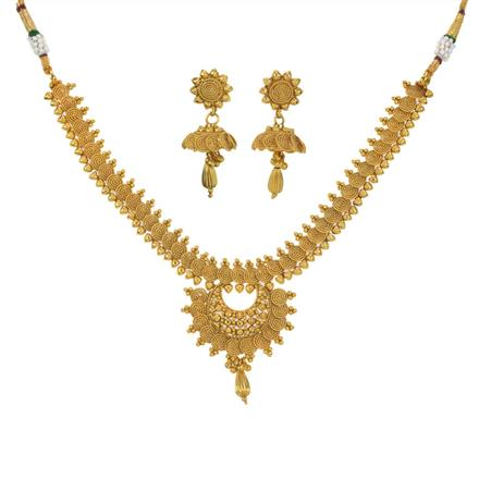 11199 Antique Plain Gold Necklace