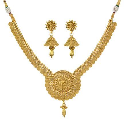11200 Antique Plain Gold Necklace