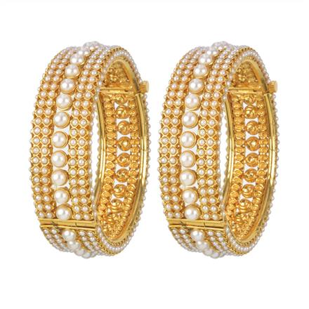 11216 Antique Openable Bangles with gold plating