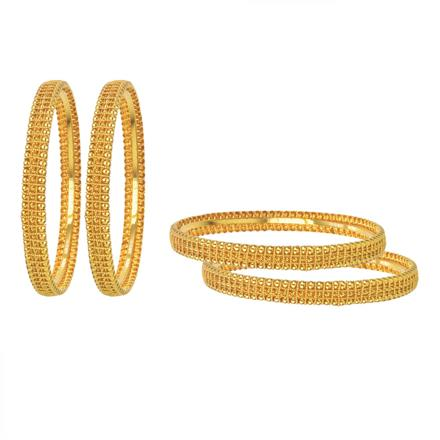 11217 Antique Plain Gold Bangles