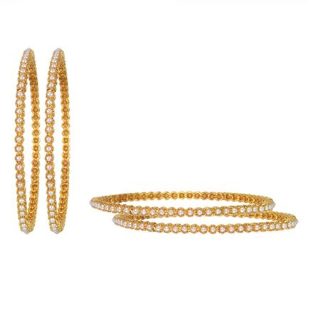 11218 Antique Classic Bangles with gold plating