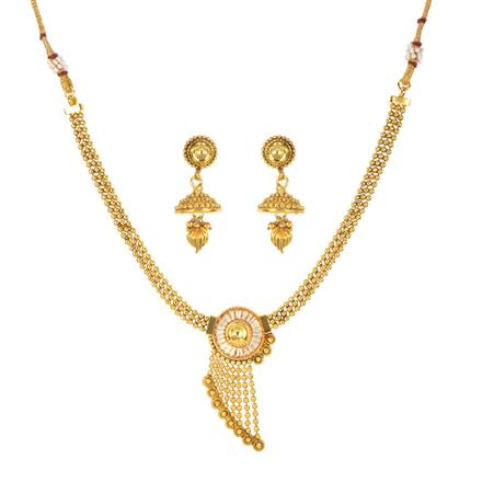 11221 Antique Delicate Necklace with gold plating