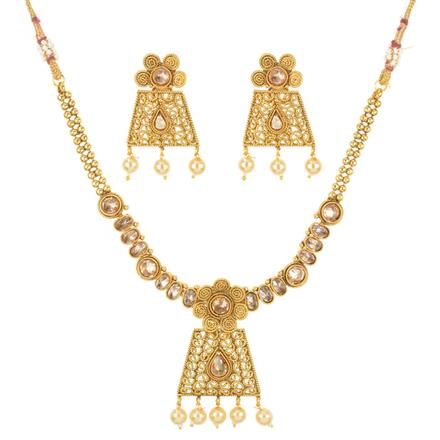 11222 Antique Classic Necklace with gold plating