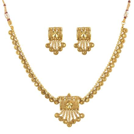 11223 Antique Delicate Necklace with gold plating