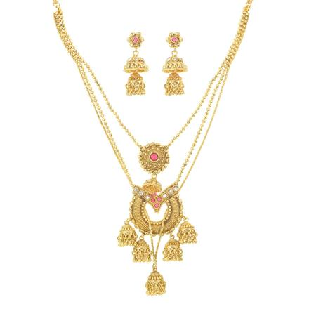 11232 Antique Classic Necklace with gold plating