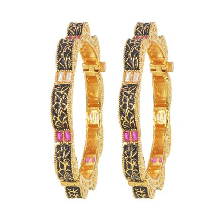 11233 Antique Openable Bangles with gold plating