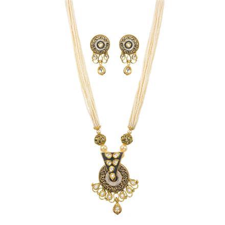 11236 Antique Mala Pendant Set with gold plating