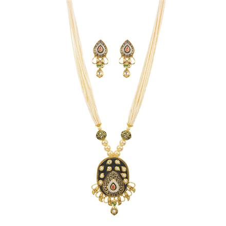 11237 Antique Mala Pendant Set with gold plating
