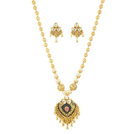 11239 Antique Mala Pendant Set with gold plating