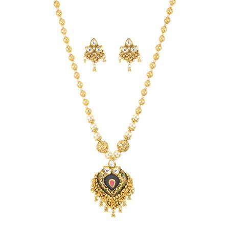 11239 Antique Mala Pendant Set with gold plating