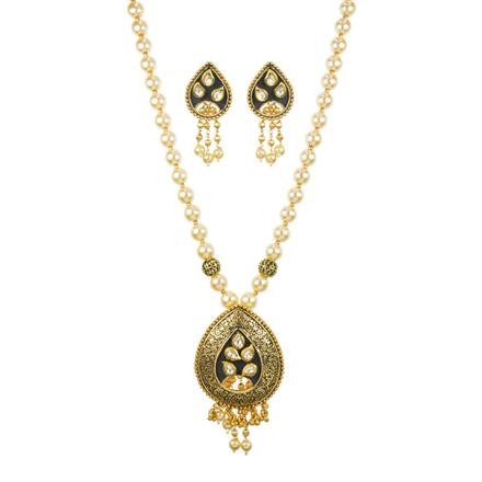 11240 Antique Mala Pendant Set with gold plating