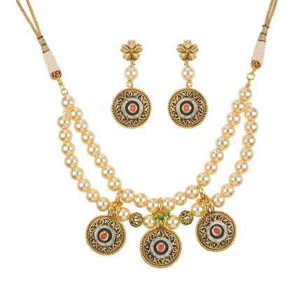 11241 Antique Mala Necklace with gold plating