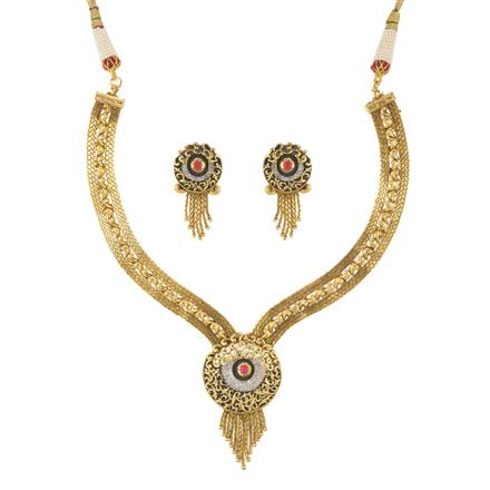 11243 Antique Classic Necklace with gold plating