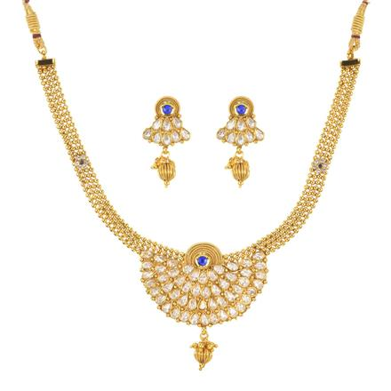 11248 Antique Classic Necklace with gold plating