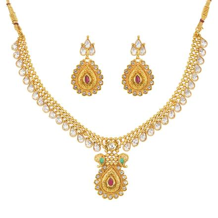 11249 Antique Delicate Necklace with gold plating