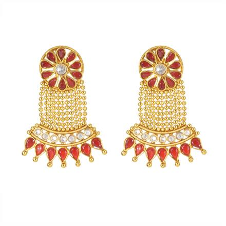 11250 Antique Classic Earring with gold plating