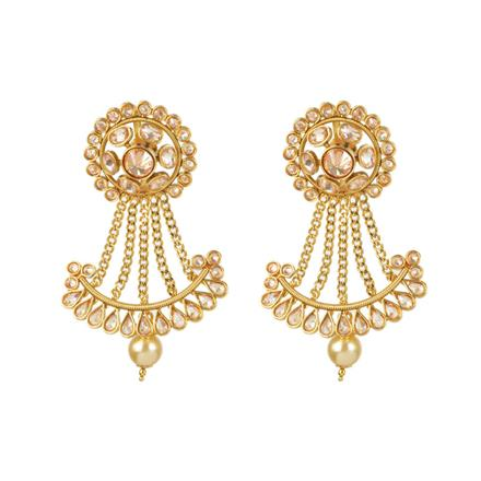 11251 Antique Chand Earring with gold plating