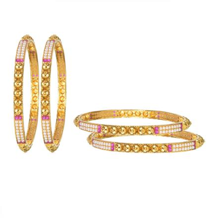 11252 Antique Classic Bangles with gold plating