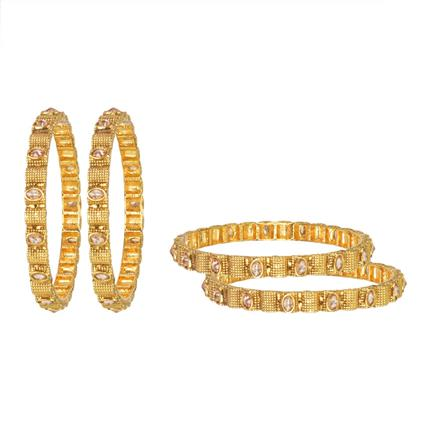 11254 Antique Classic Bangles with gold plating