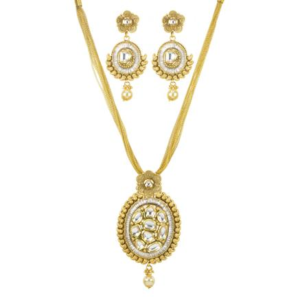 11256 Antique Fusion Pendant Set with gold plating