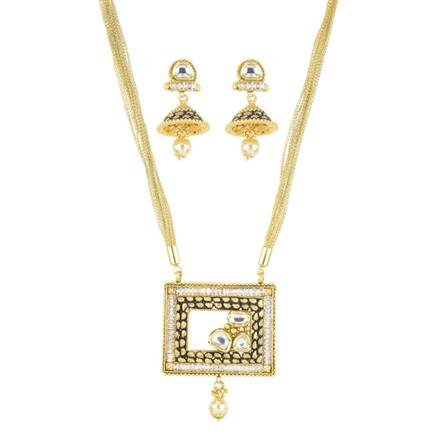 11259 Antique Fusion Pendant Set with gold plating