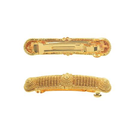11264 Antique Classic Hair Clip with gold plating