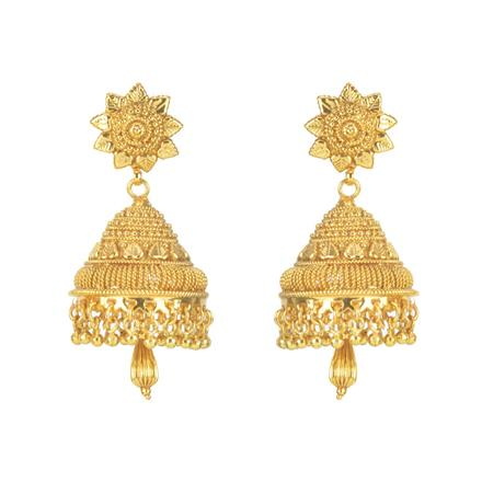 11273 Antique Jhumki with gold plating