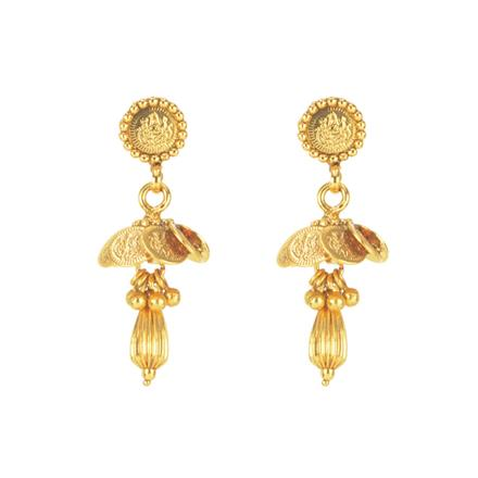 11274 Antique Temple Earring with gold plating