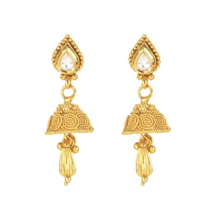 11275 Antique Jhumki with gold plating
