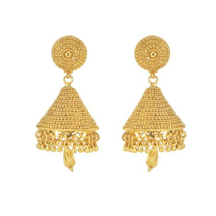 11276 Antique Jhumki with gold plating