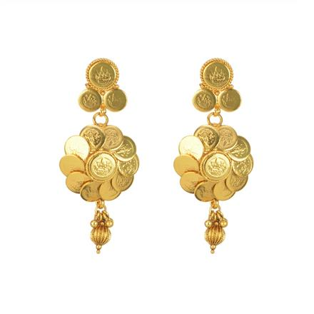 11277 Antique Temple Earring with gold plating