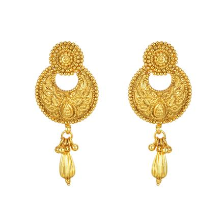11278 Antique Chand Earring with gold plating