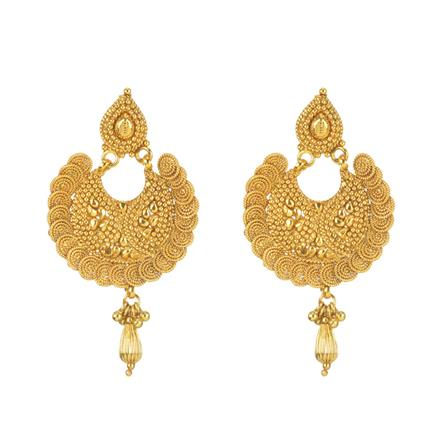 11280 Antique Chand Earring with gold plating