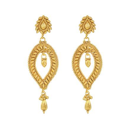 11282 Antique Plain Gold Earring