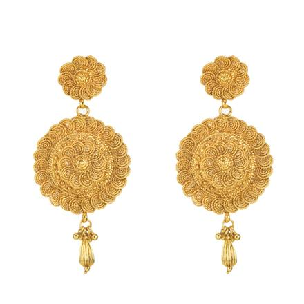 11283 Antique Plain Gold Earring