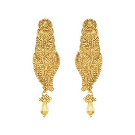 11284 Antique Plain Gold Earring