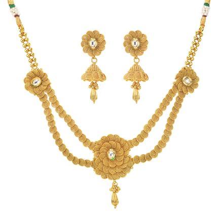 11289 Antique Plain Gold Necklace